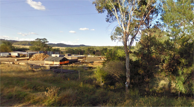 Bendemeer woodshed, near where Theresa and family will be staying in outback New South Wales.