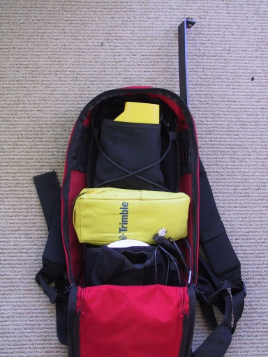 GPS backpack (open)