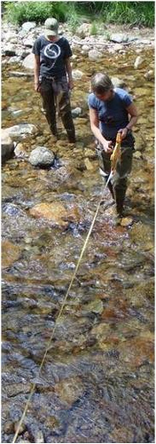measuring in a stream