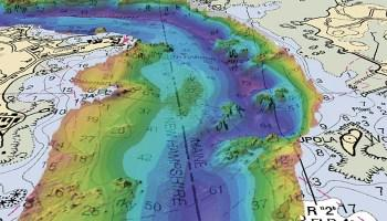 Bathymetry map