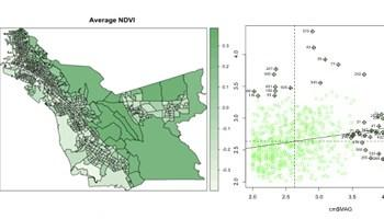 choropleth map and statistical data display