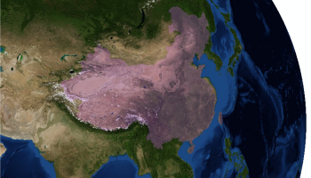 China from space