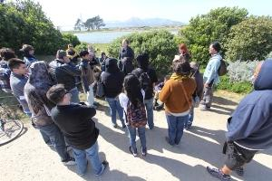Students on a Bay Area Environmental field trip