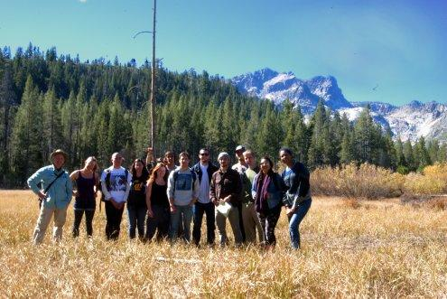 Landforms class at meadow by Sierra Buttes