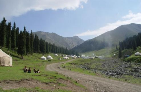 Tianshan Kazak summer camp