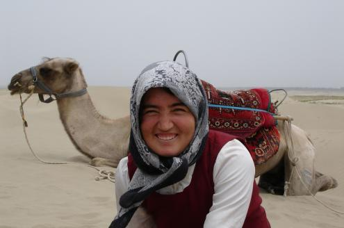 Uighur woman in western Tarim basin