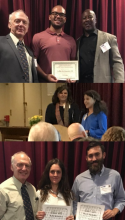 Callie, Byron, Salma, Kelly and Max receive awards
